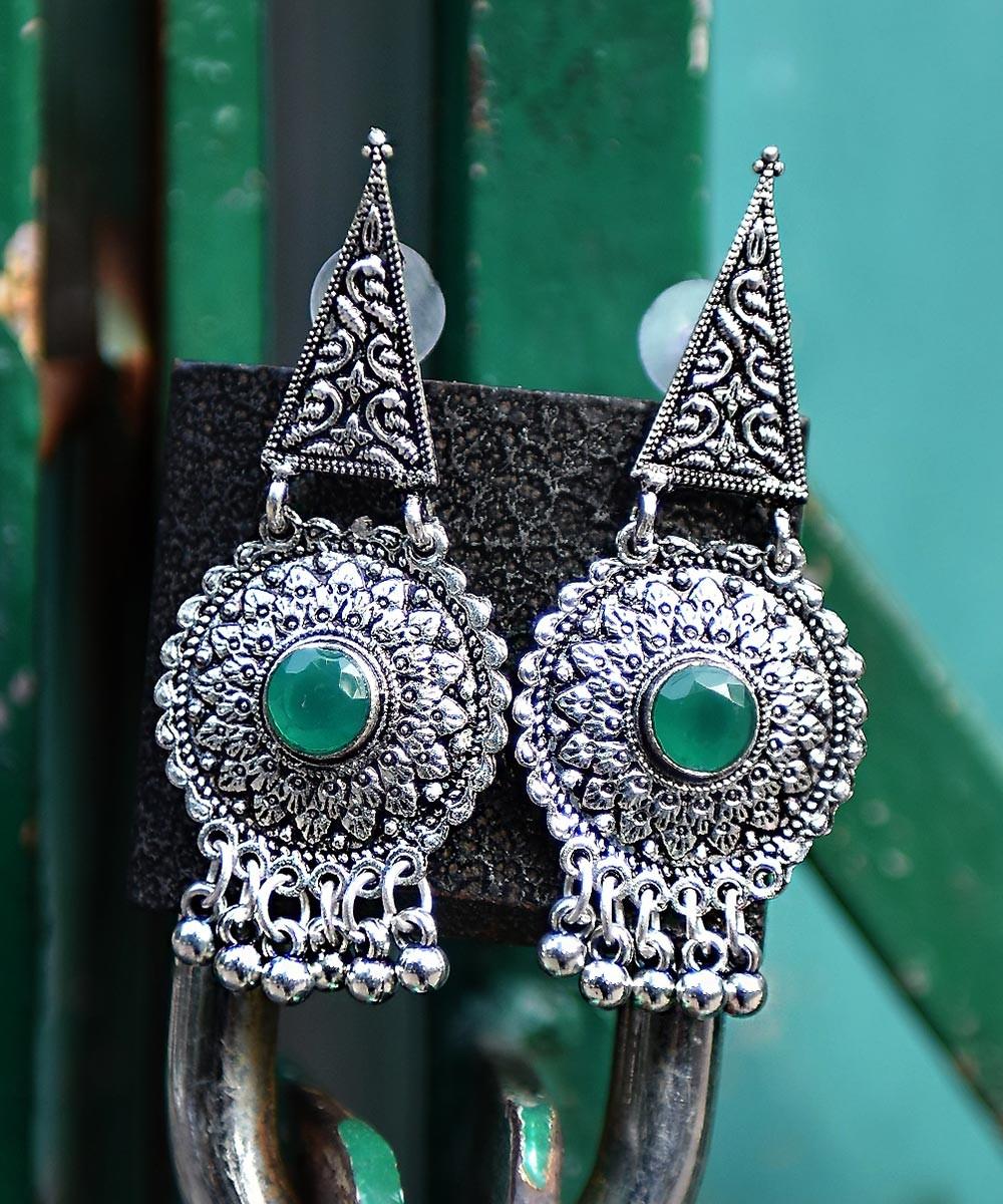 Style cone earrings green
