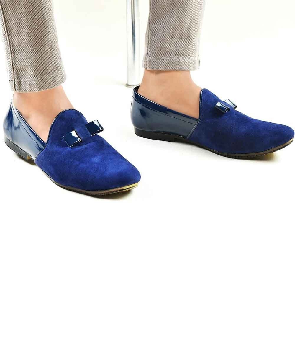 Blue style shoes