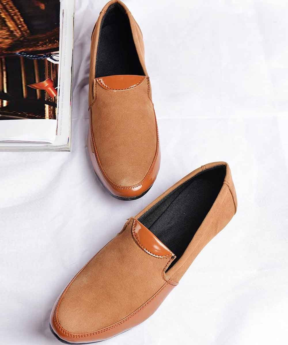 Mens   Brown suede loafers