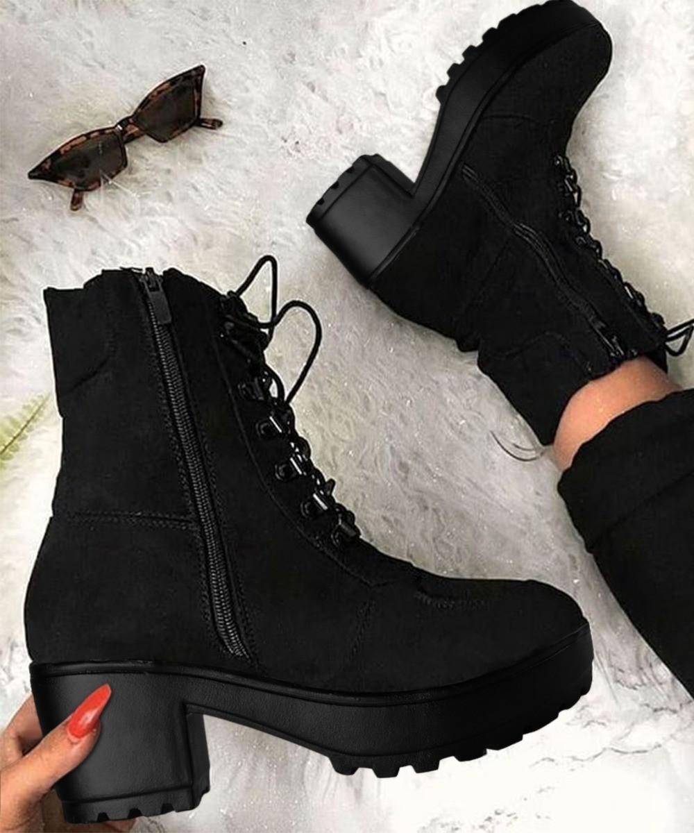 High street fashion walk boots