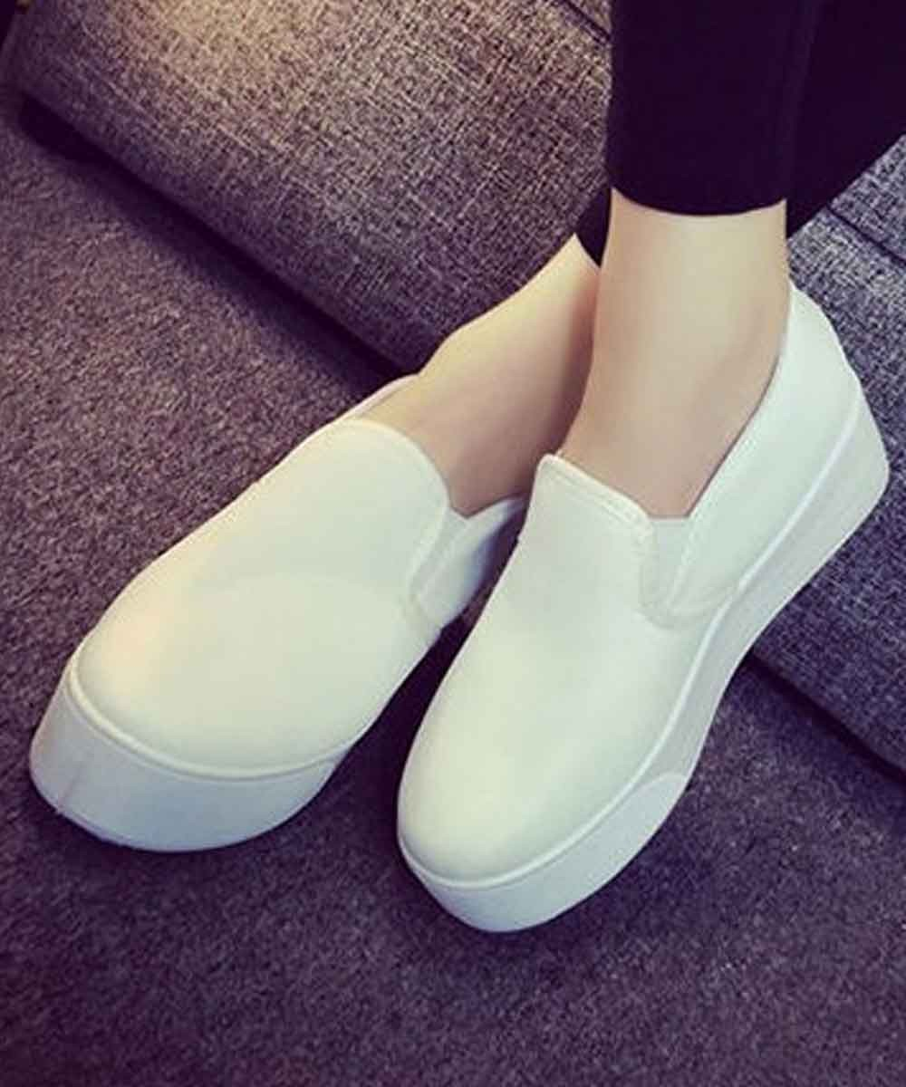 Park Raving Platform White Sneakers
