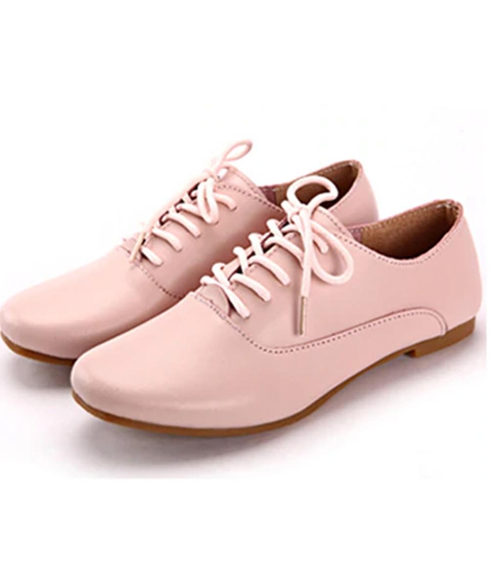 Preppy show lace flats ( Pink )