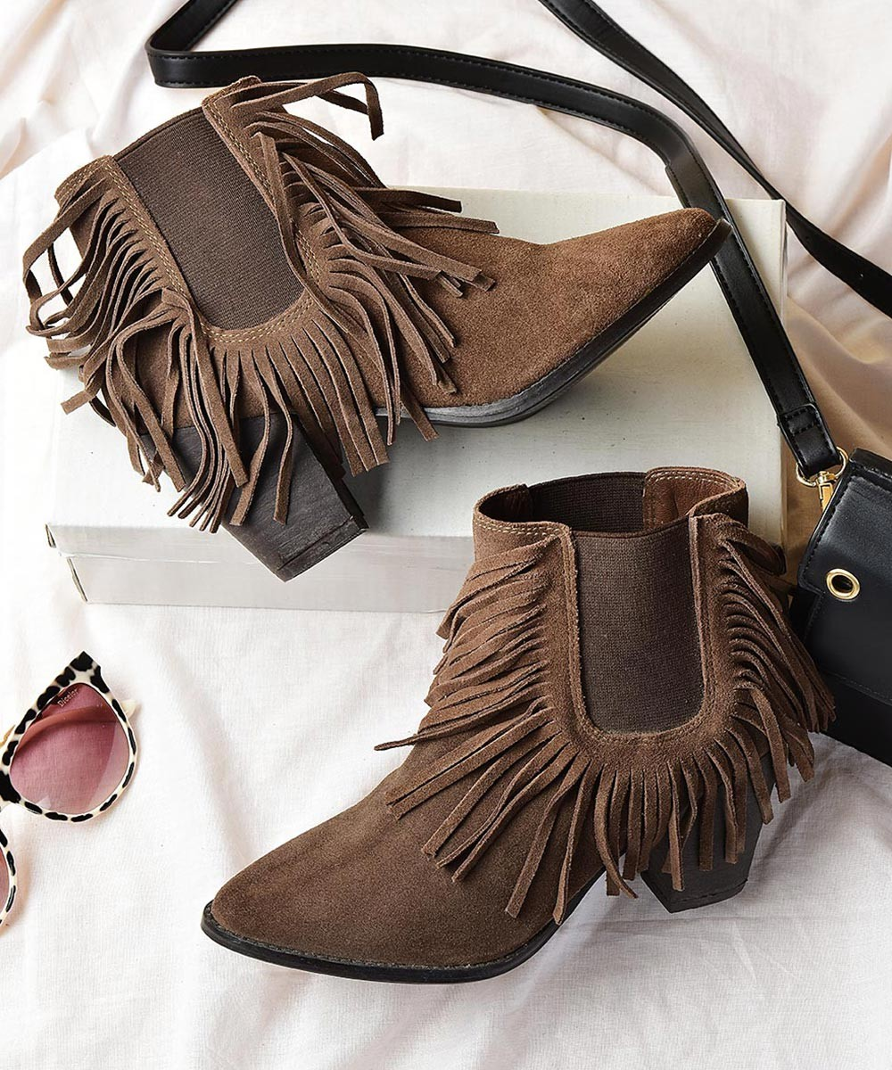 Genuine Leather Off To A Chic Start Ankle Boot