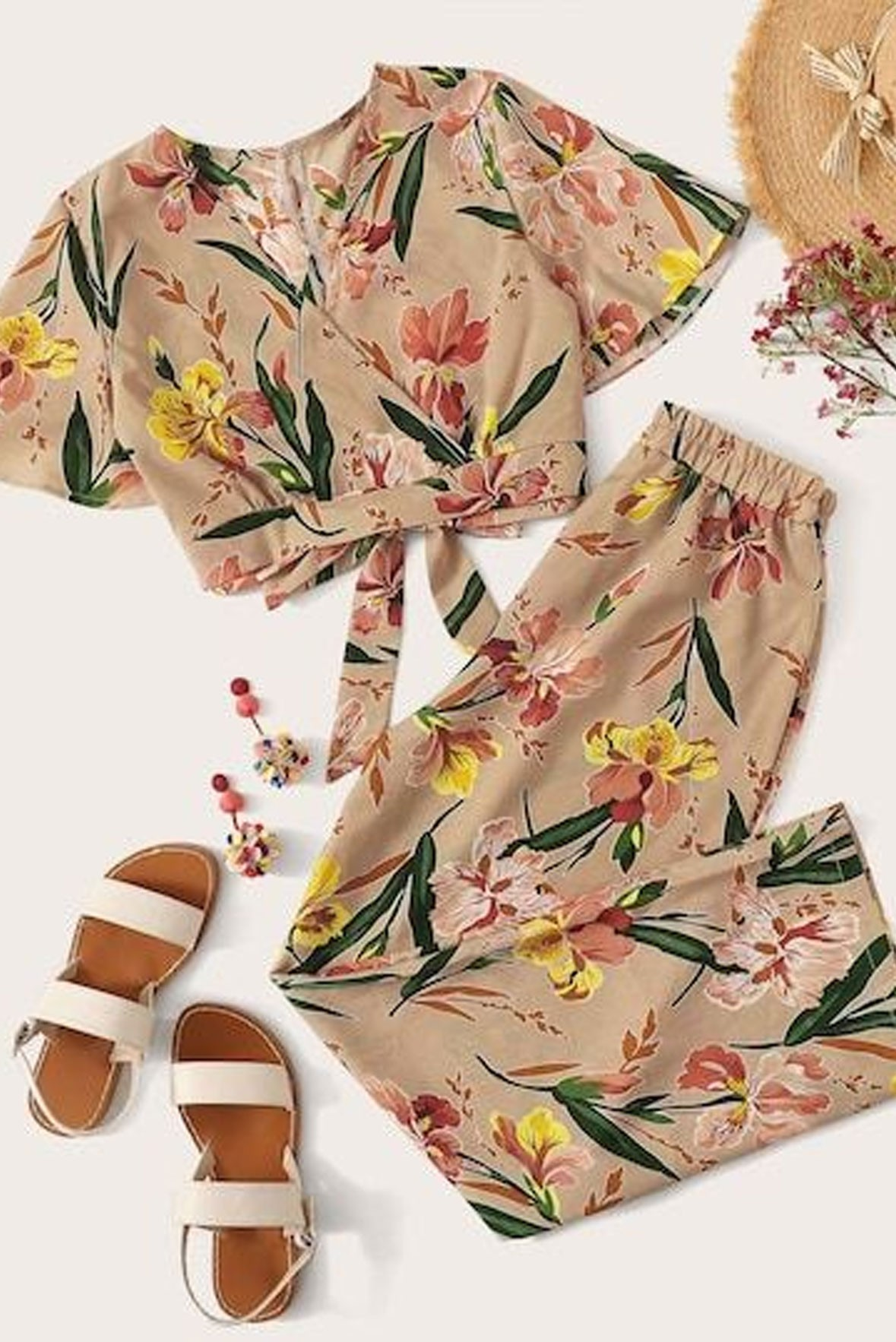 Set of two :- daisies to remember top & trouser set