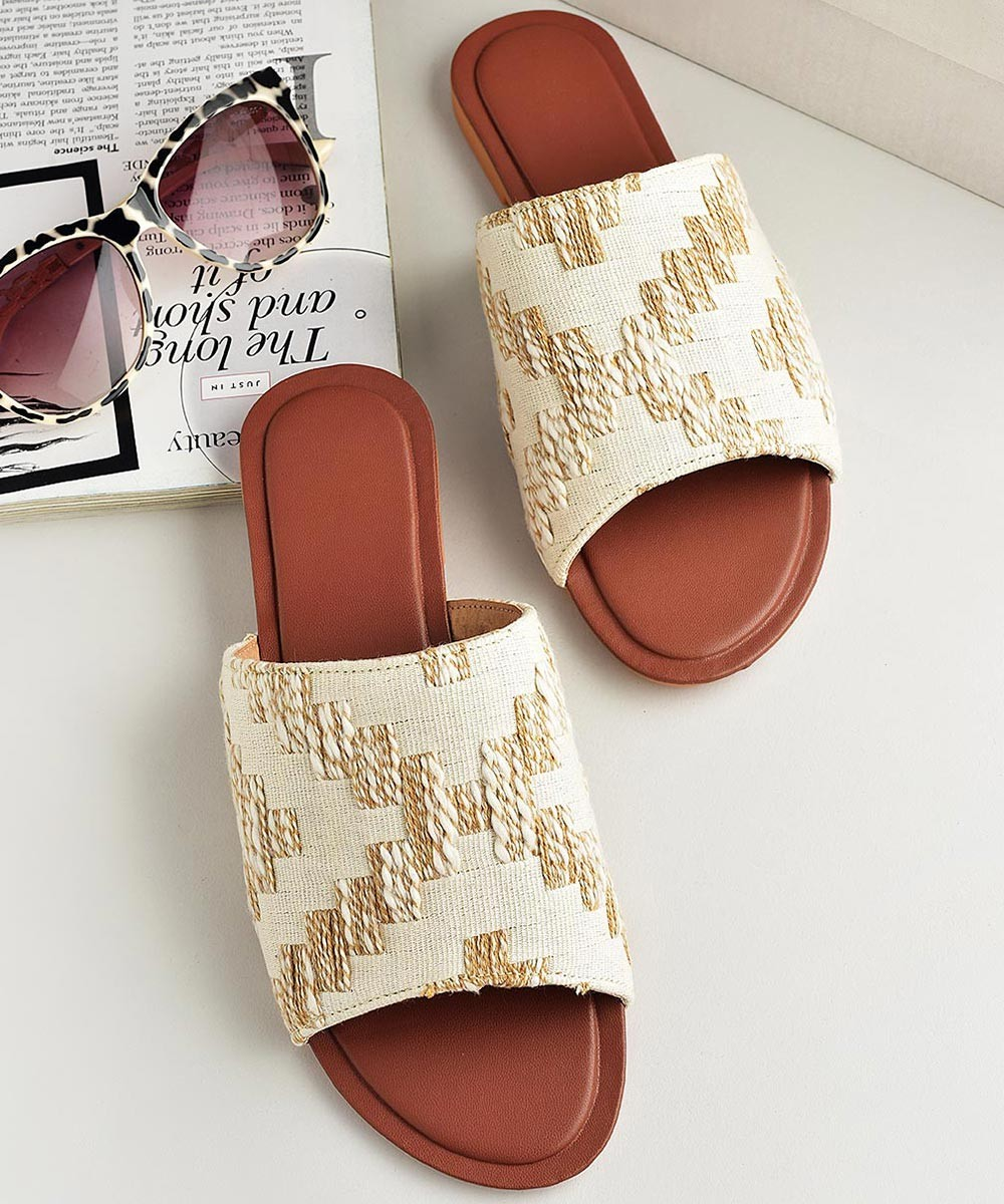 Step above flats Off White