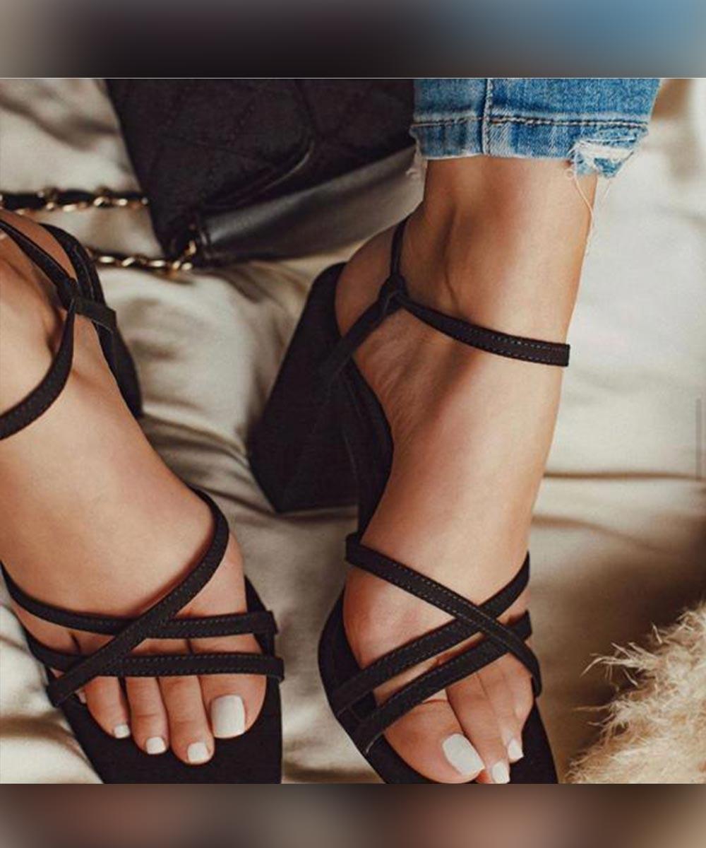 A beautiful mess black heels