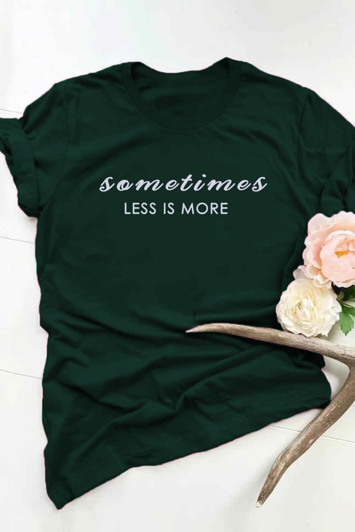 Less is more t-shirt Green
