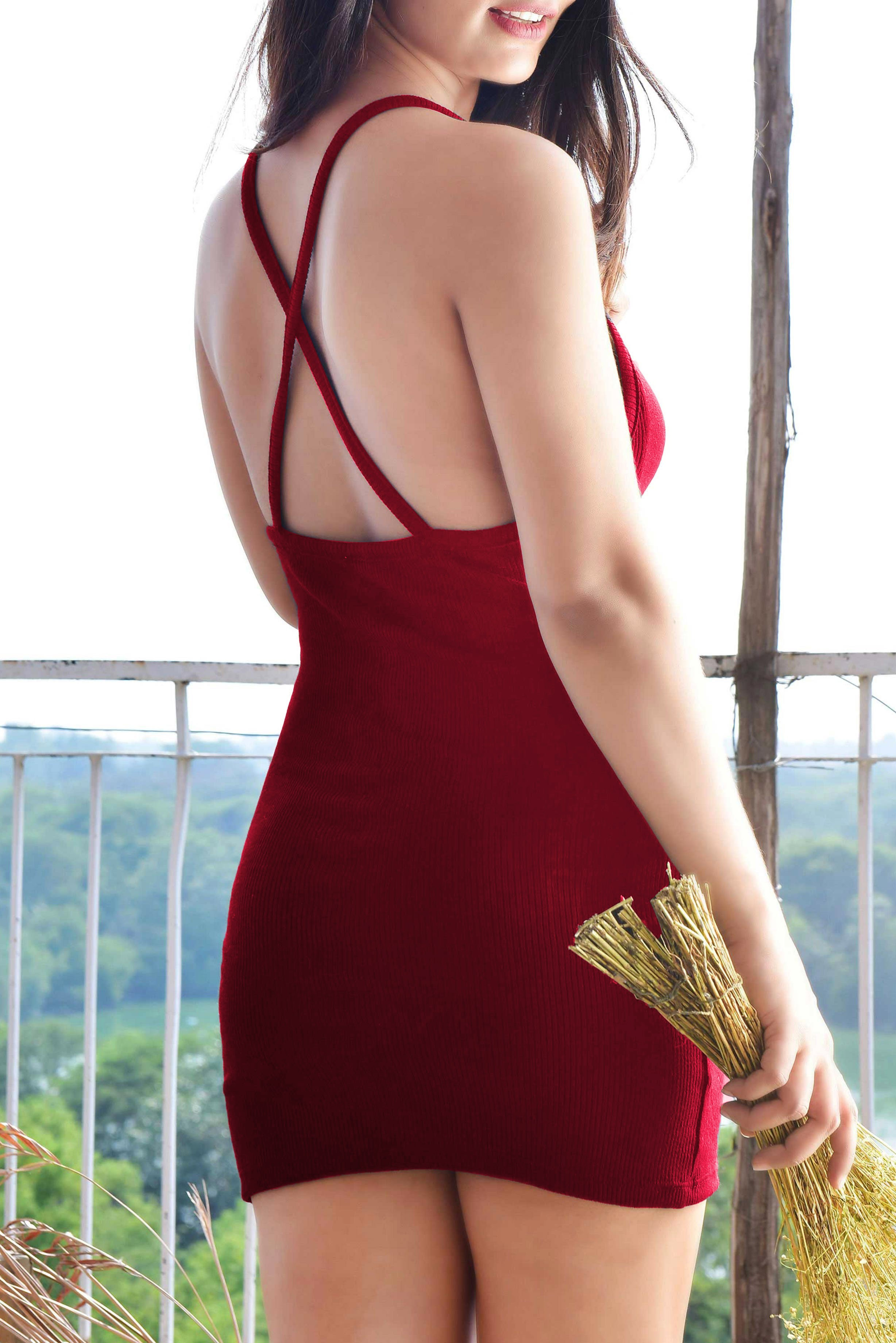Graceful Guest Dress Marsala