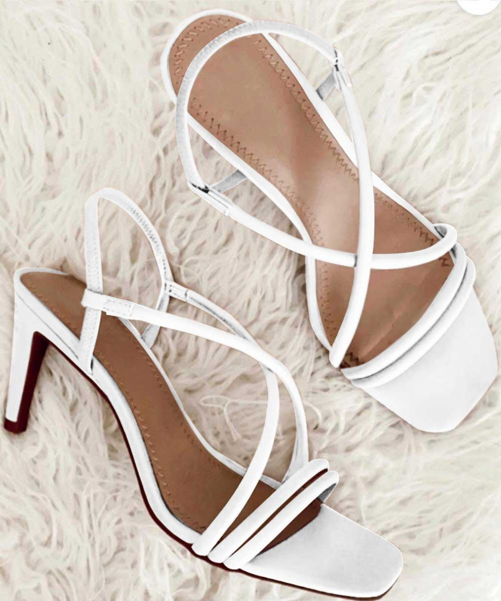 Classy nice to five chic heels White