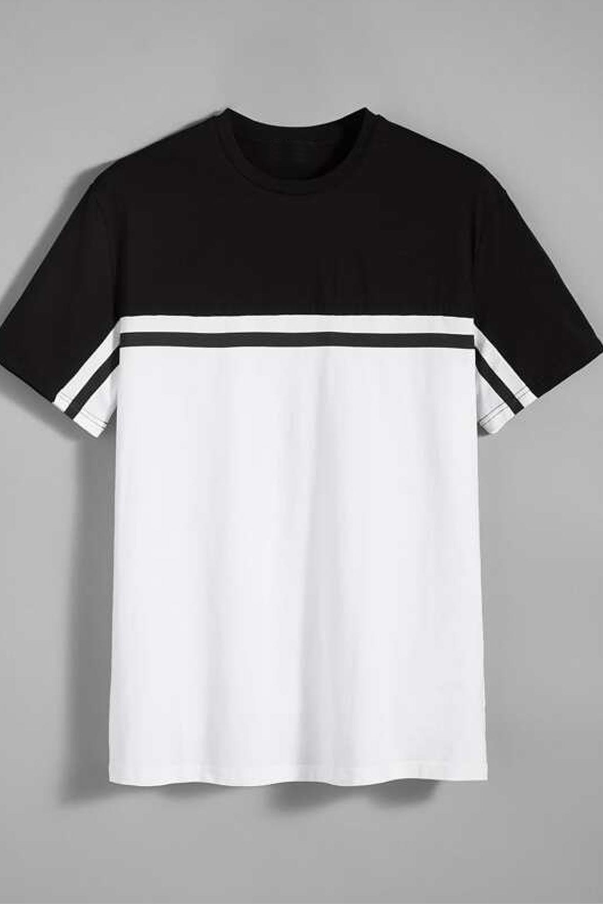 Men-Two-Tone-Striped-Detail-Top