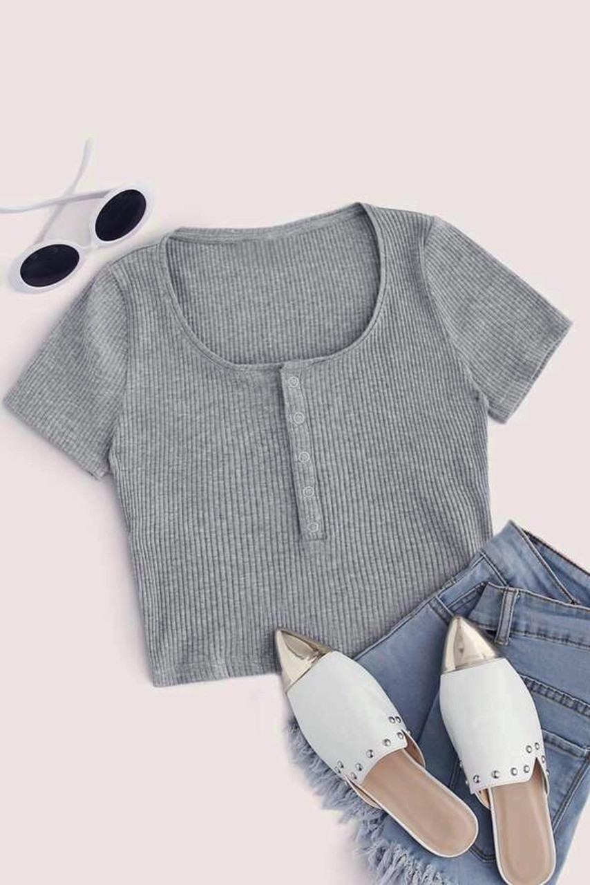 Crazy grey crop top