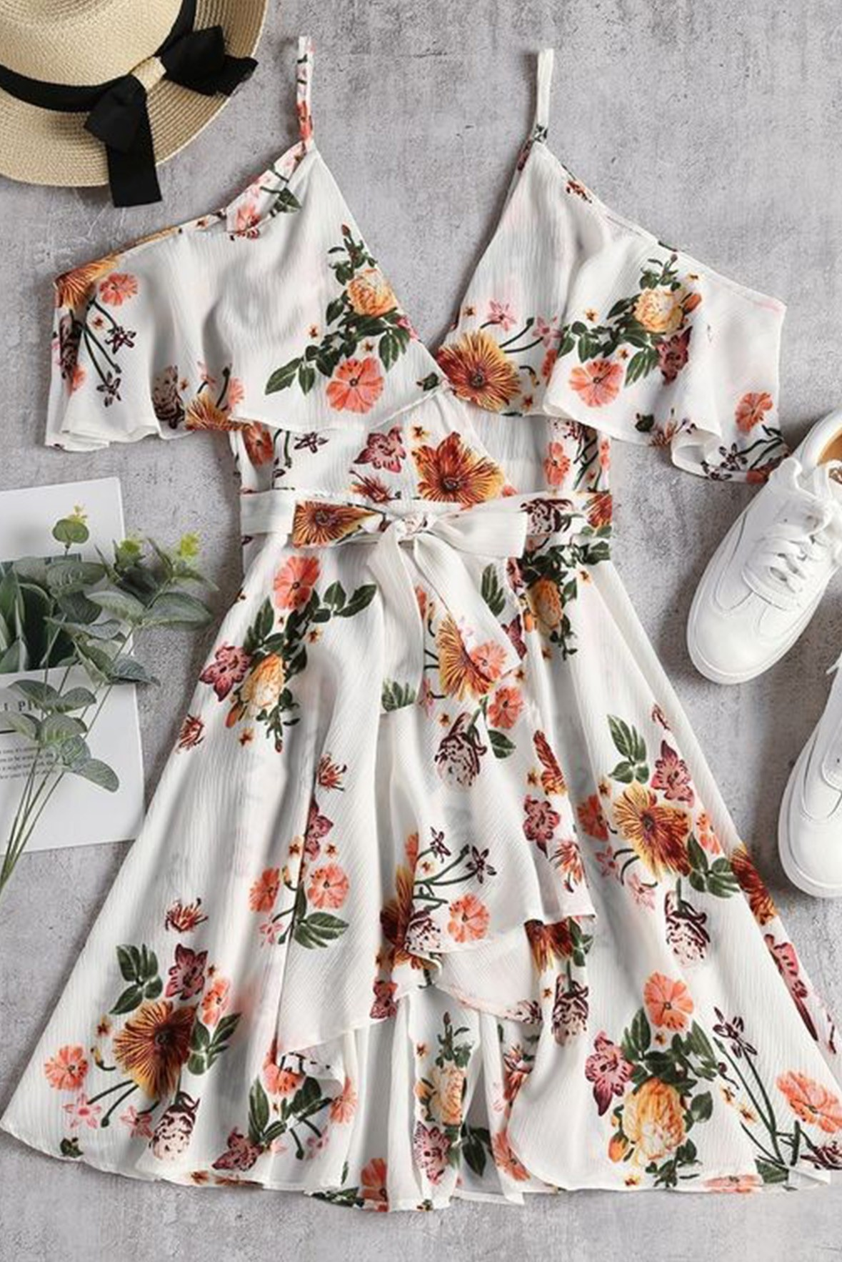 Feeling floral style statement dress