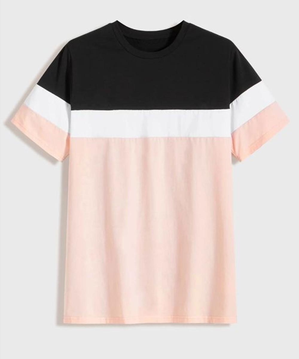 Colorblock Short Sleeve Tee for Men