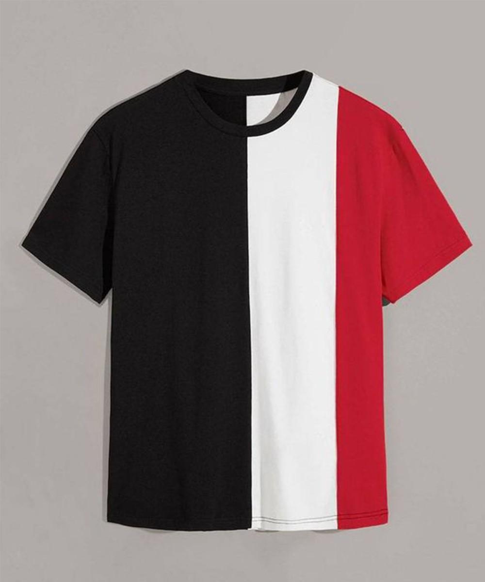 Custom Color Block T Shirts for Men