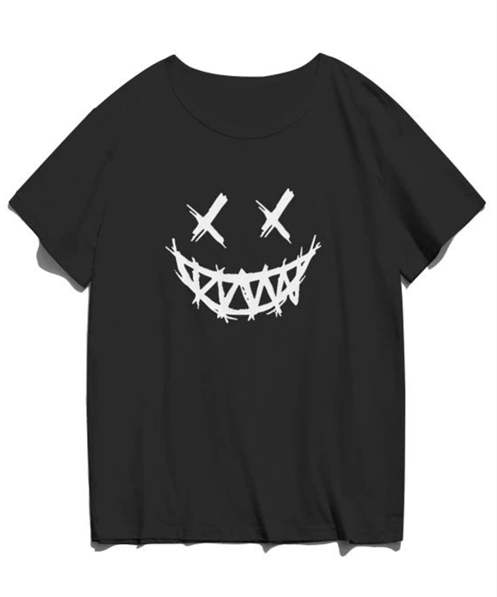 Happy Face Graphic T Shirt for Men