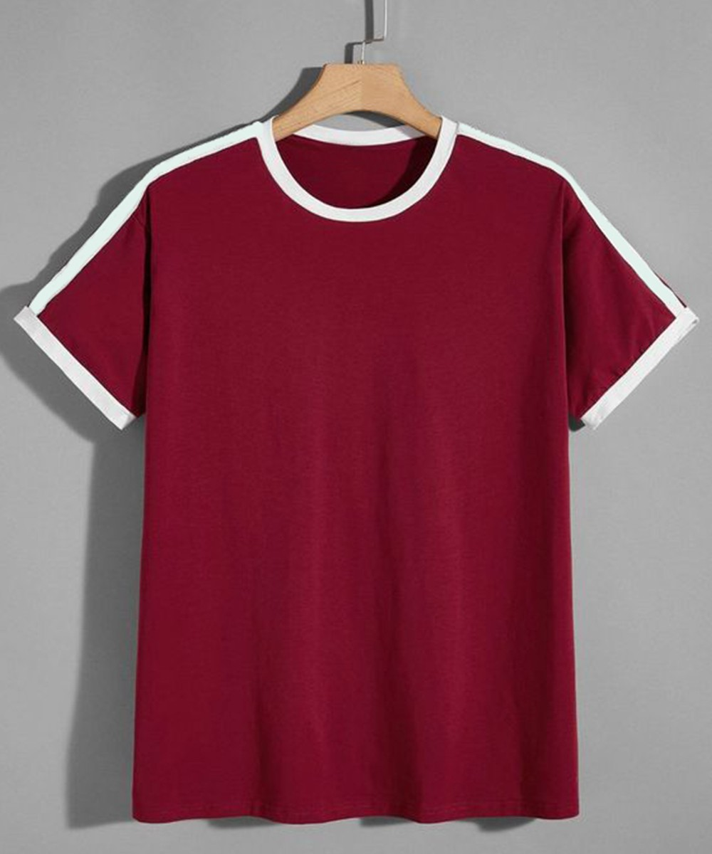 Regular Tee for Men Marsala
