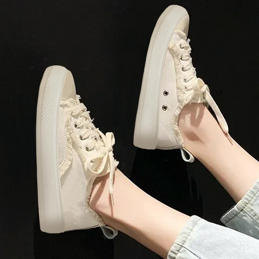 Classic style rockstar sneakers ( off white)
