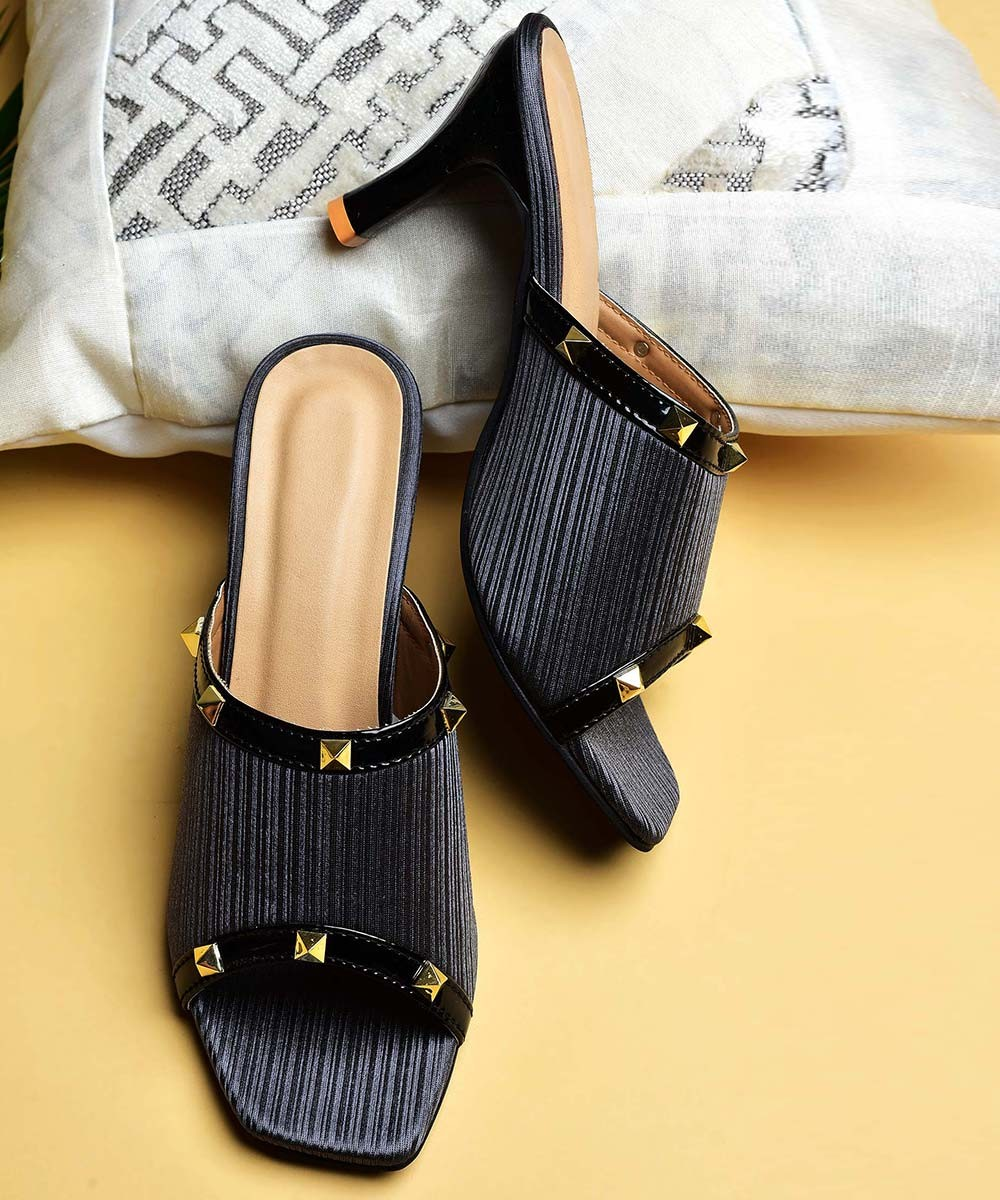 Stylish little black heels