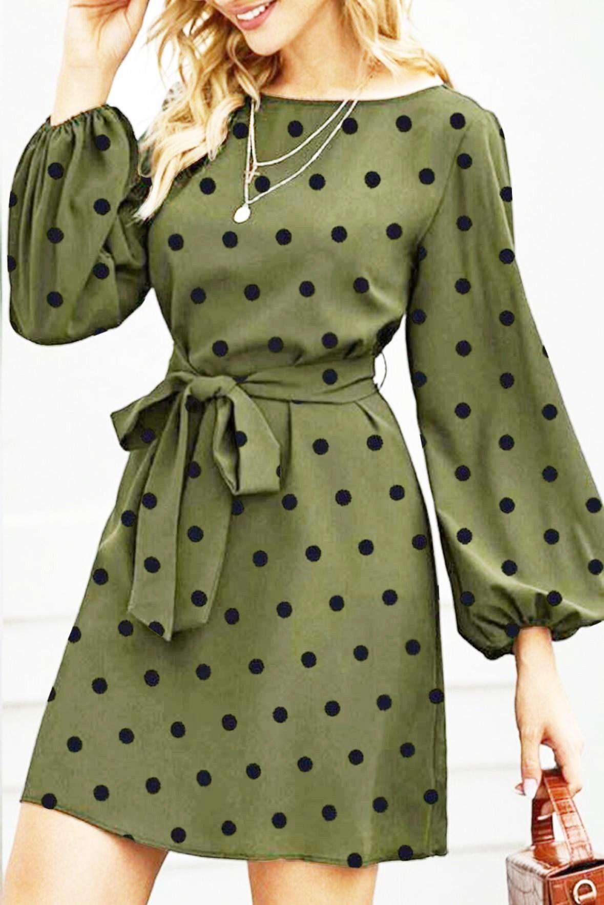 Walking in ibiza polka dot dress