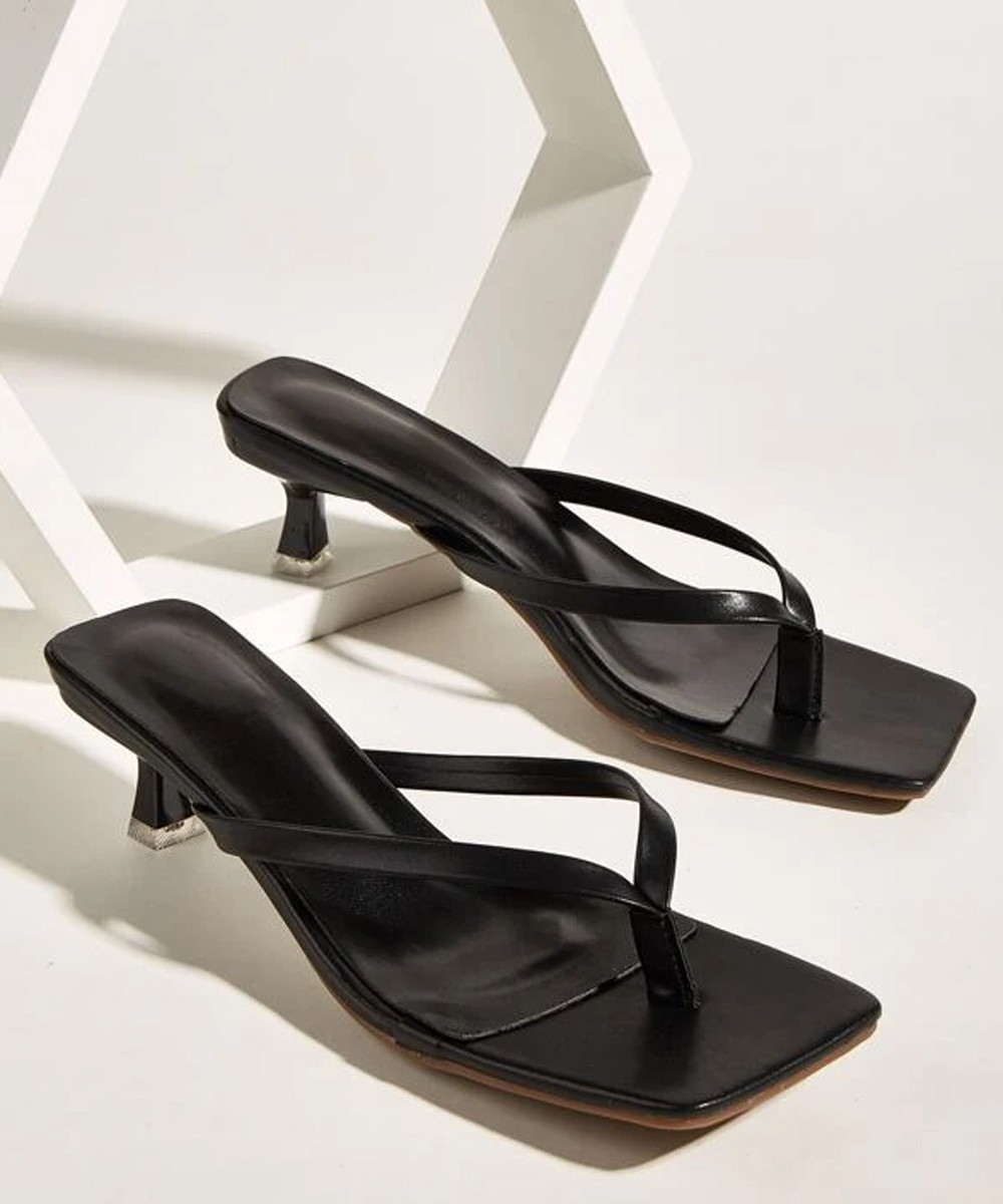 Classic sling black heel