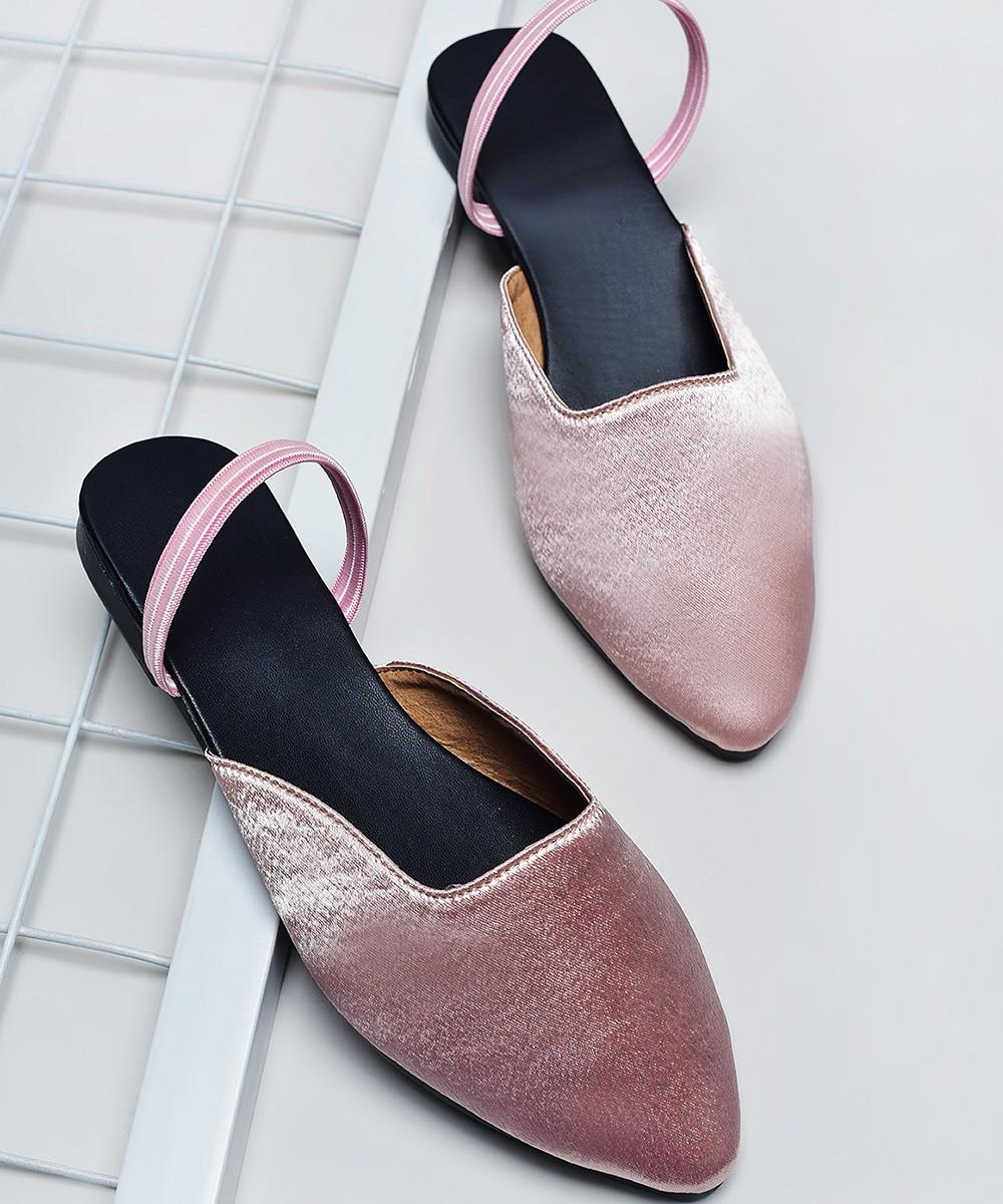 Candy walk mules Pink Flats