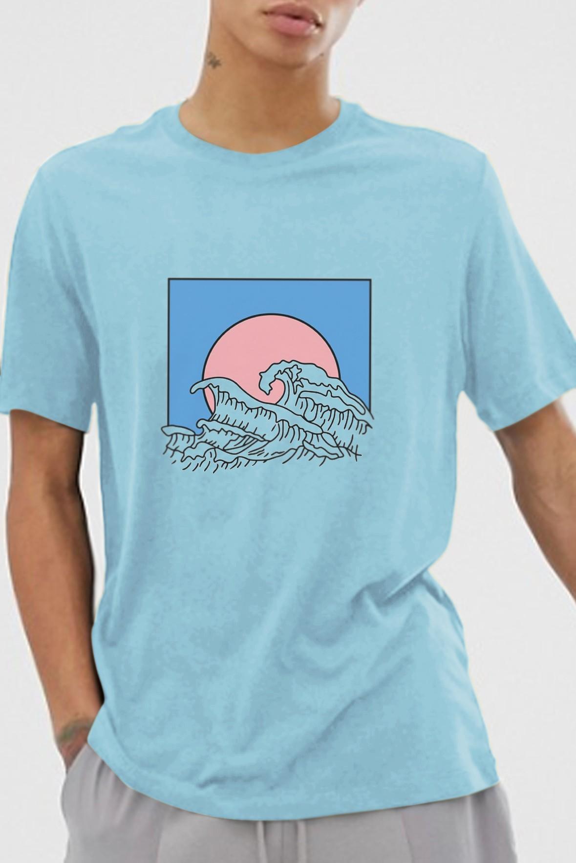 Wave t-shirt blue