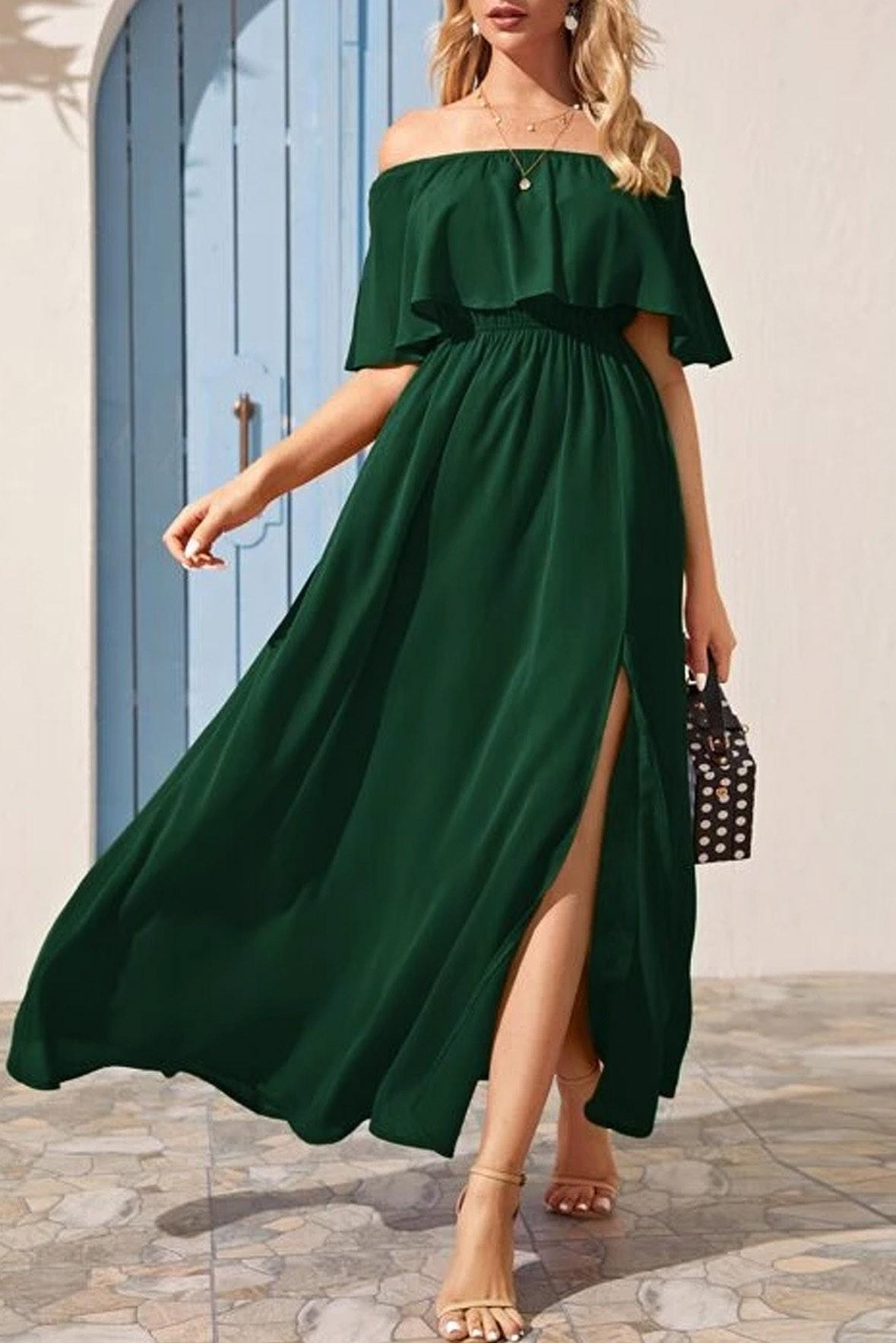 Go with the flow slit dress