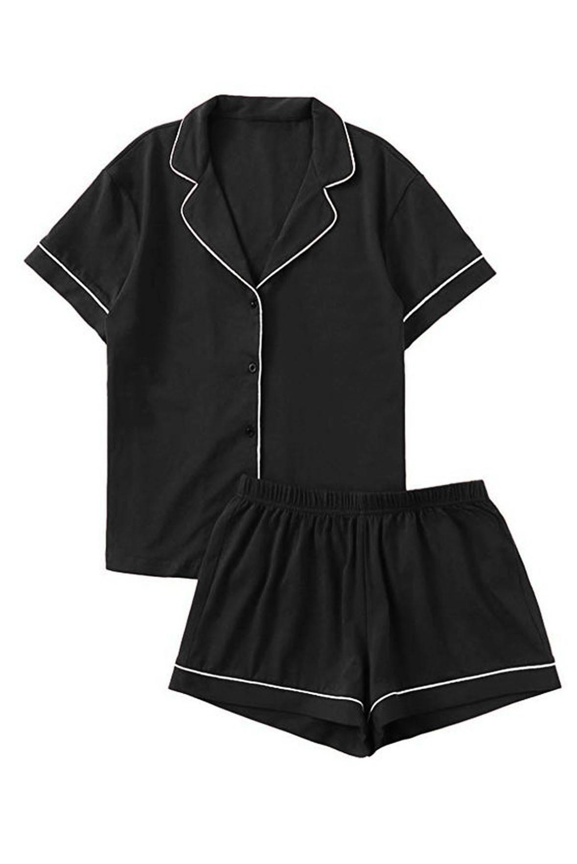 Set of 2 - Sleep Bright Nightwear Outfit Black