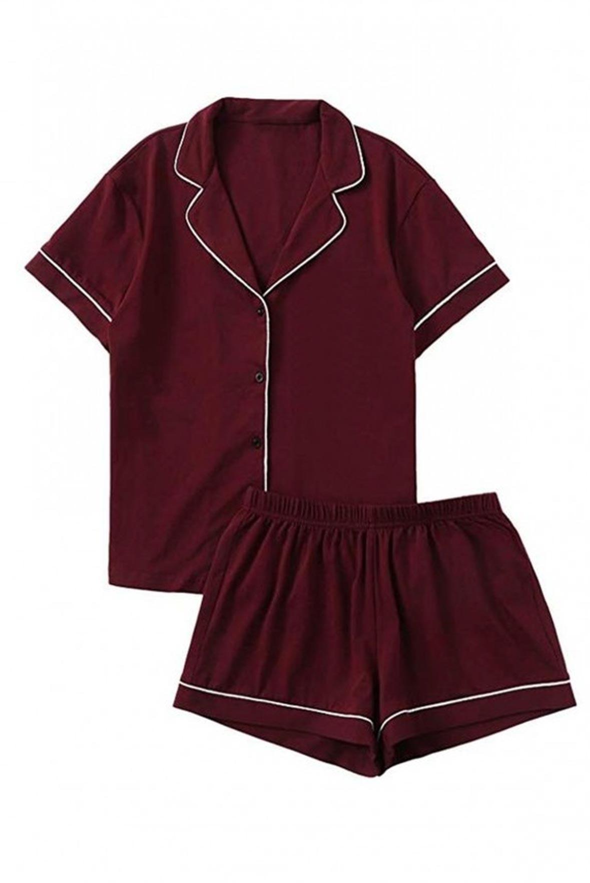 Set of 2 - Sleep Bright Nightwear Outfit Marsala