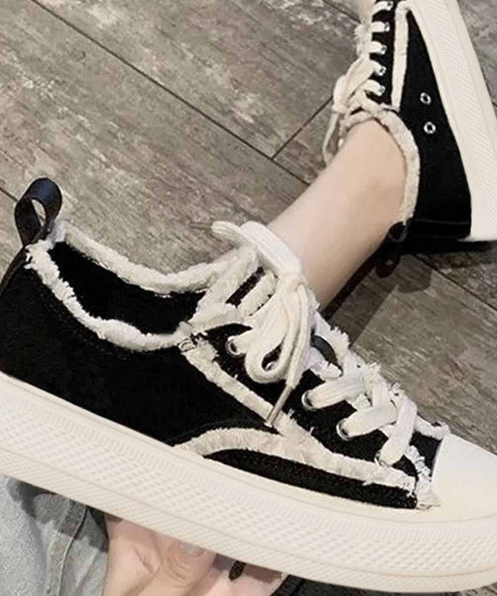 Classic style rockstar sneakers in black