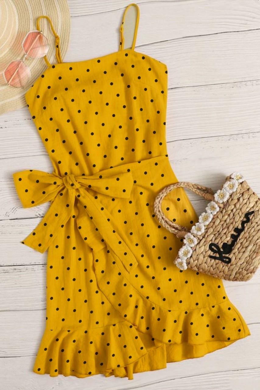 Peonies & more polka dot dress