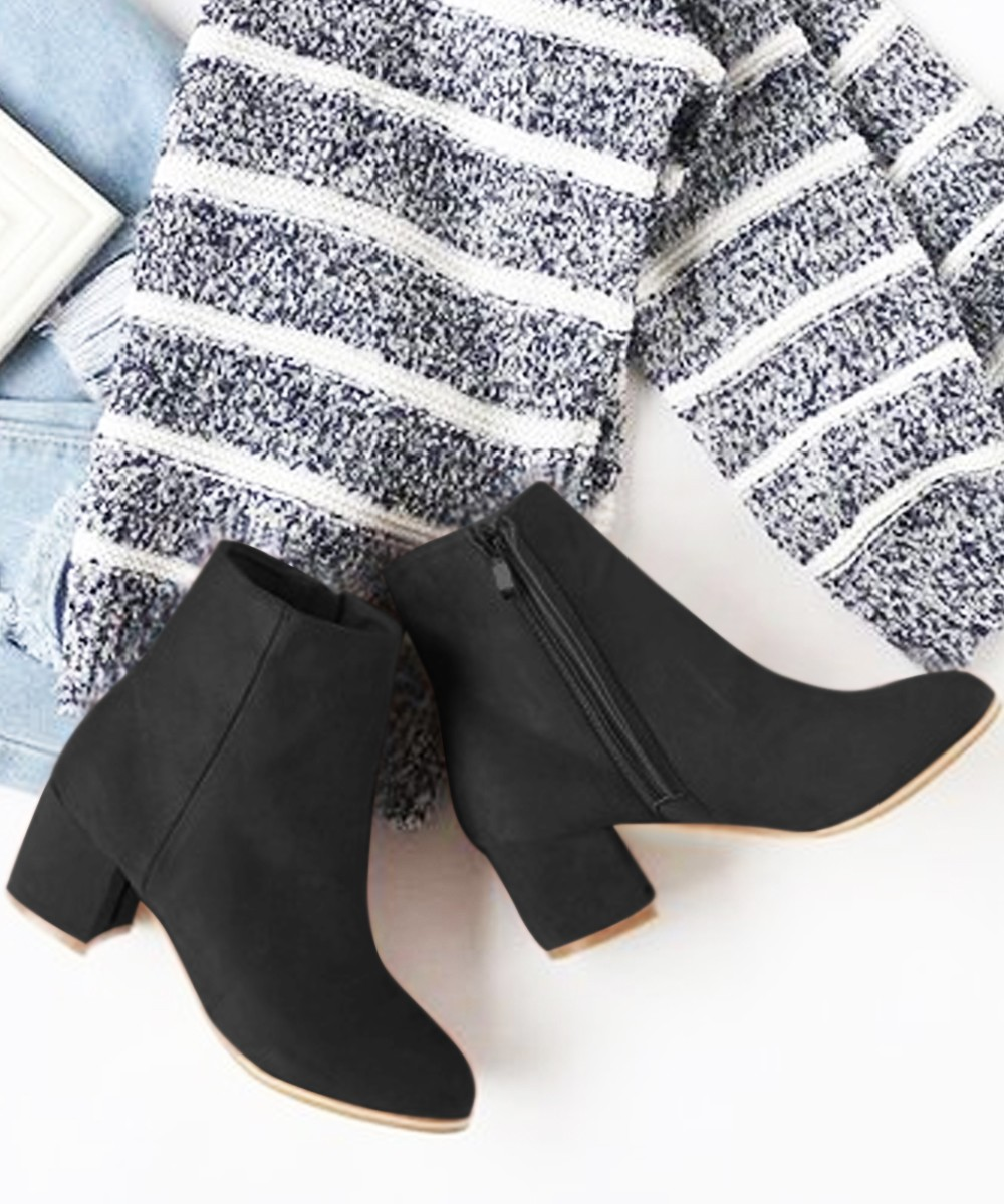 Chilled folk ankle boots