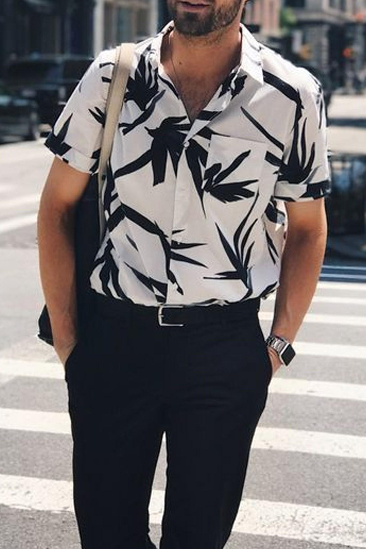 Bright color short sleeve shirts