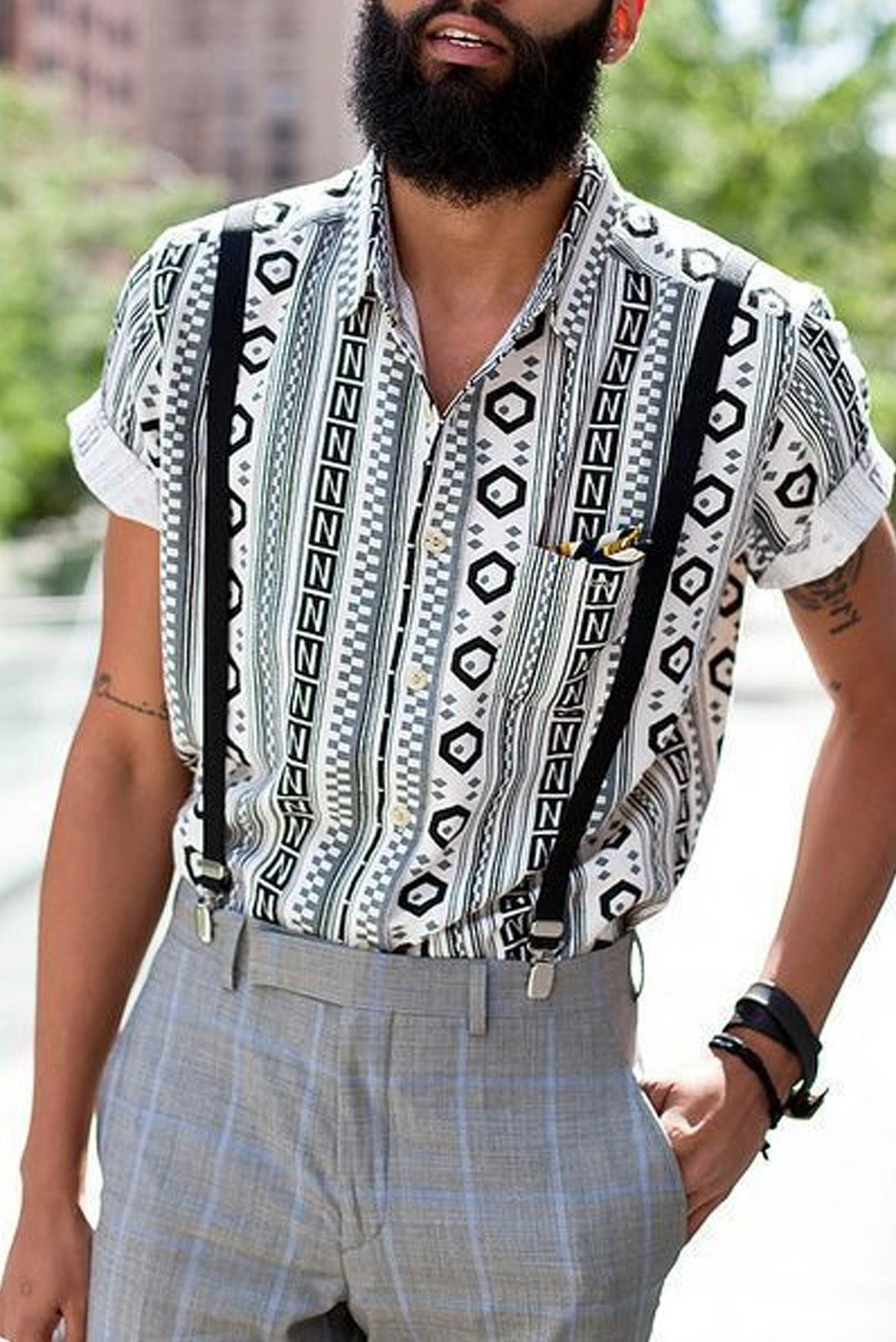 Men Tribal Print Shirt