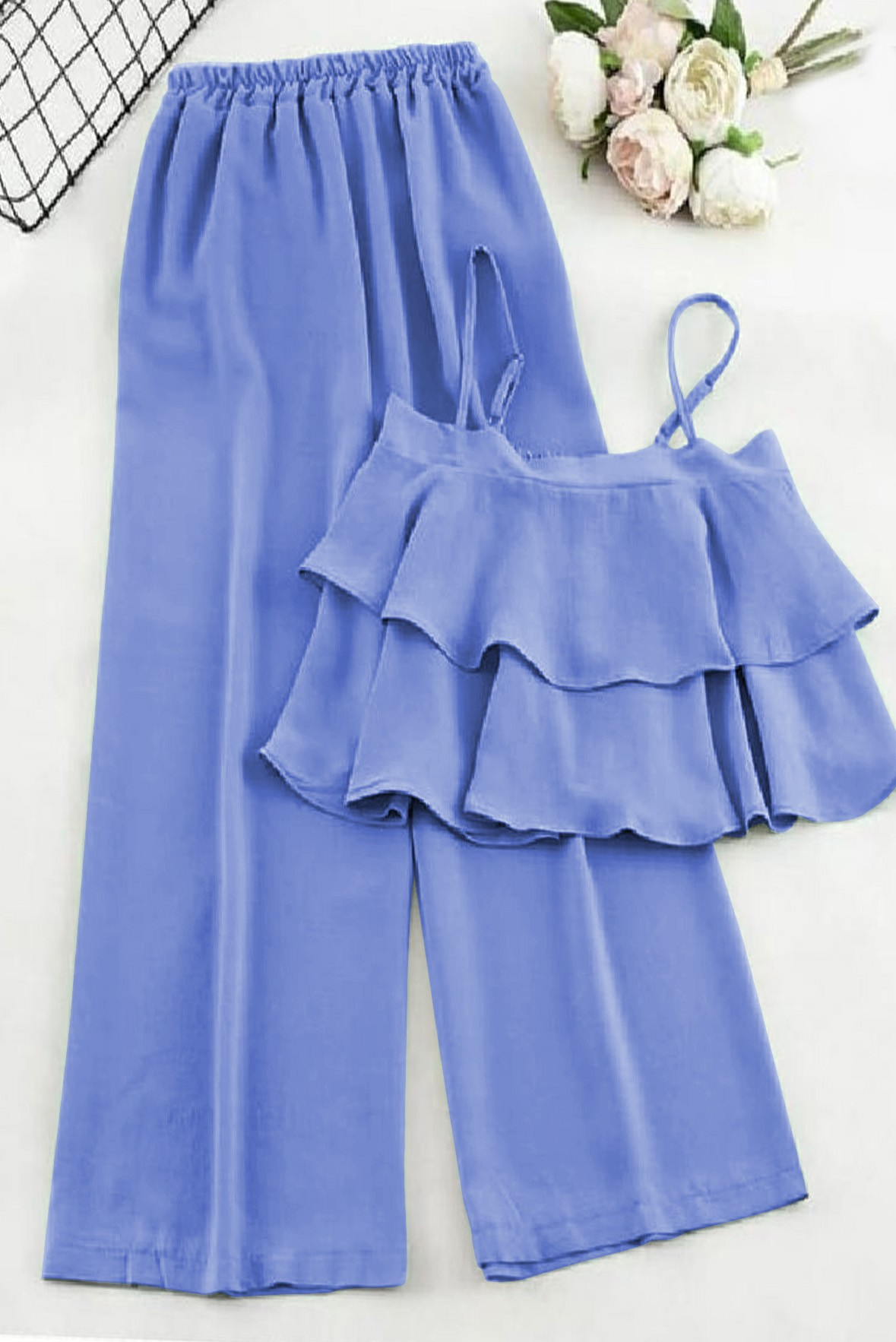 Set of 2- Stylish Frill Top with Trouser