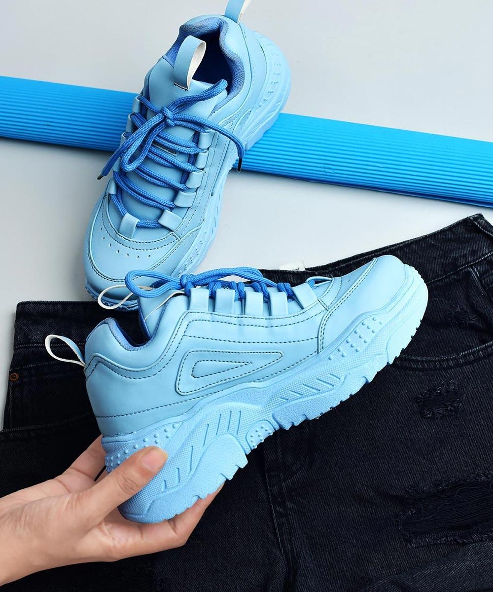 Moving around ireland chunky blue sneakers