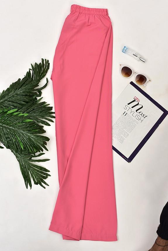 Solid Colour Regular Trouser Rose Pink