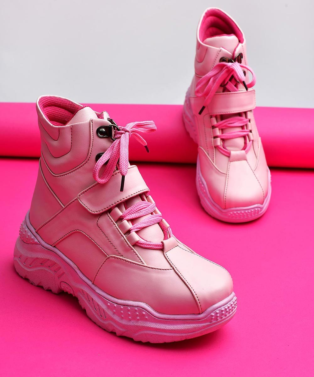 Party in LA chunky pink sneakers