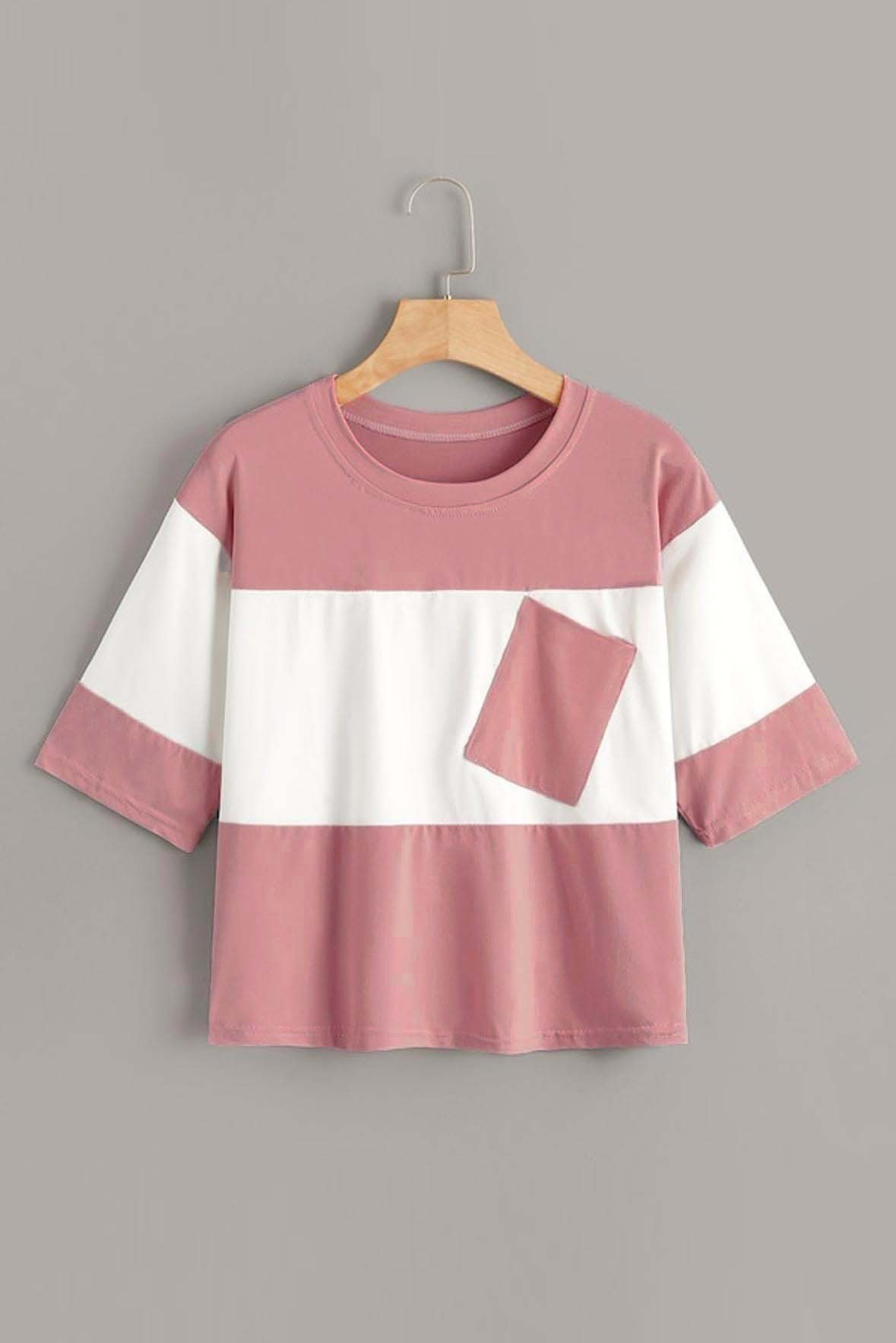 Contrast two tone t-shirt