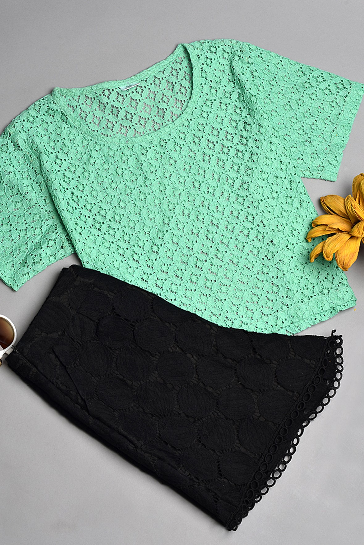 Lace Fabric Top