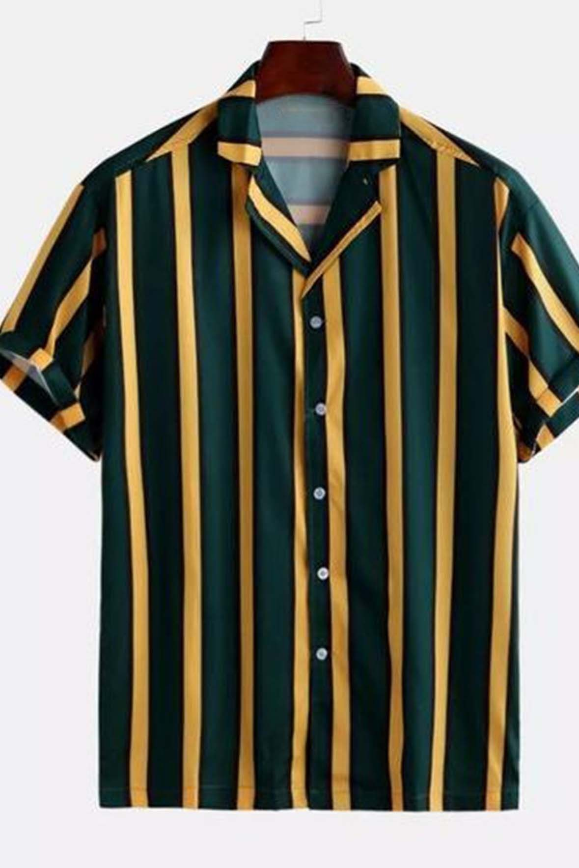 Striped green men shirt