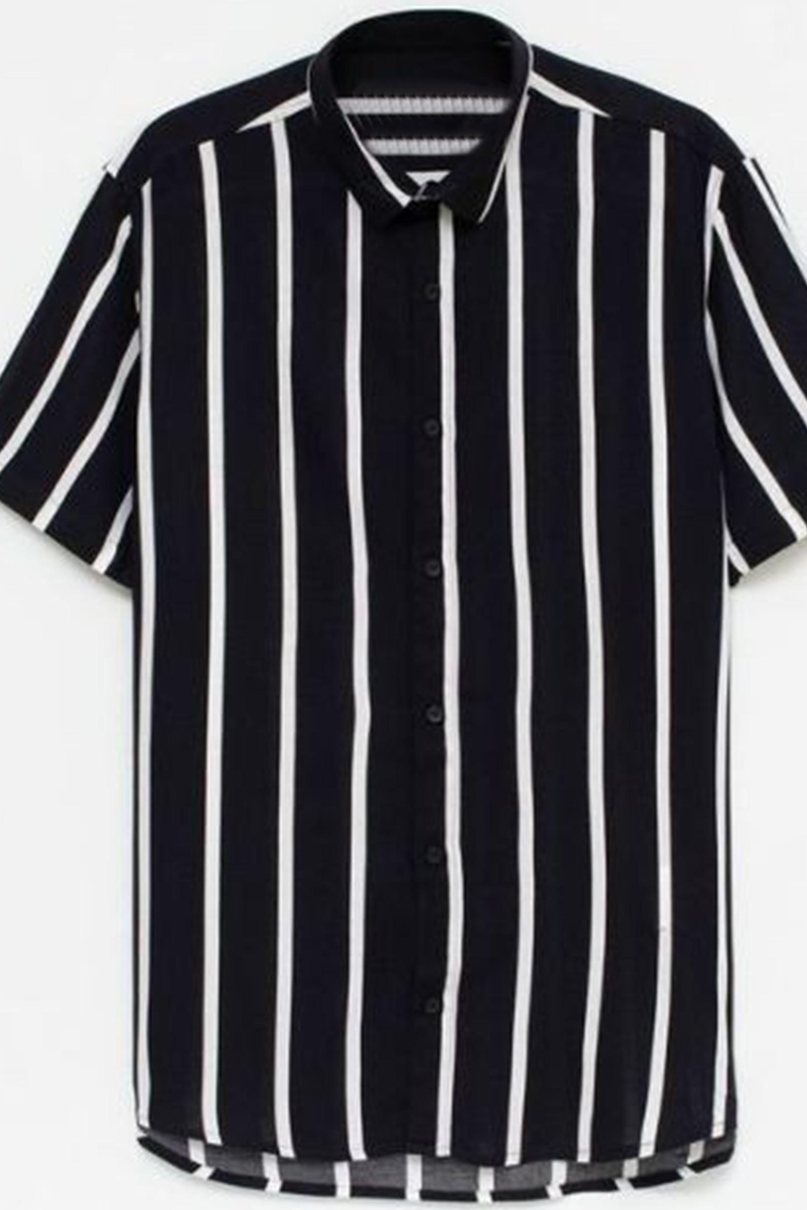 Cool black stripe men shirt