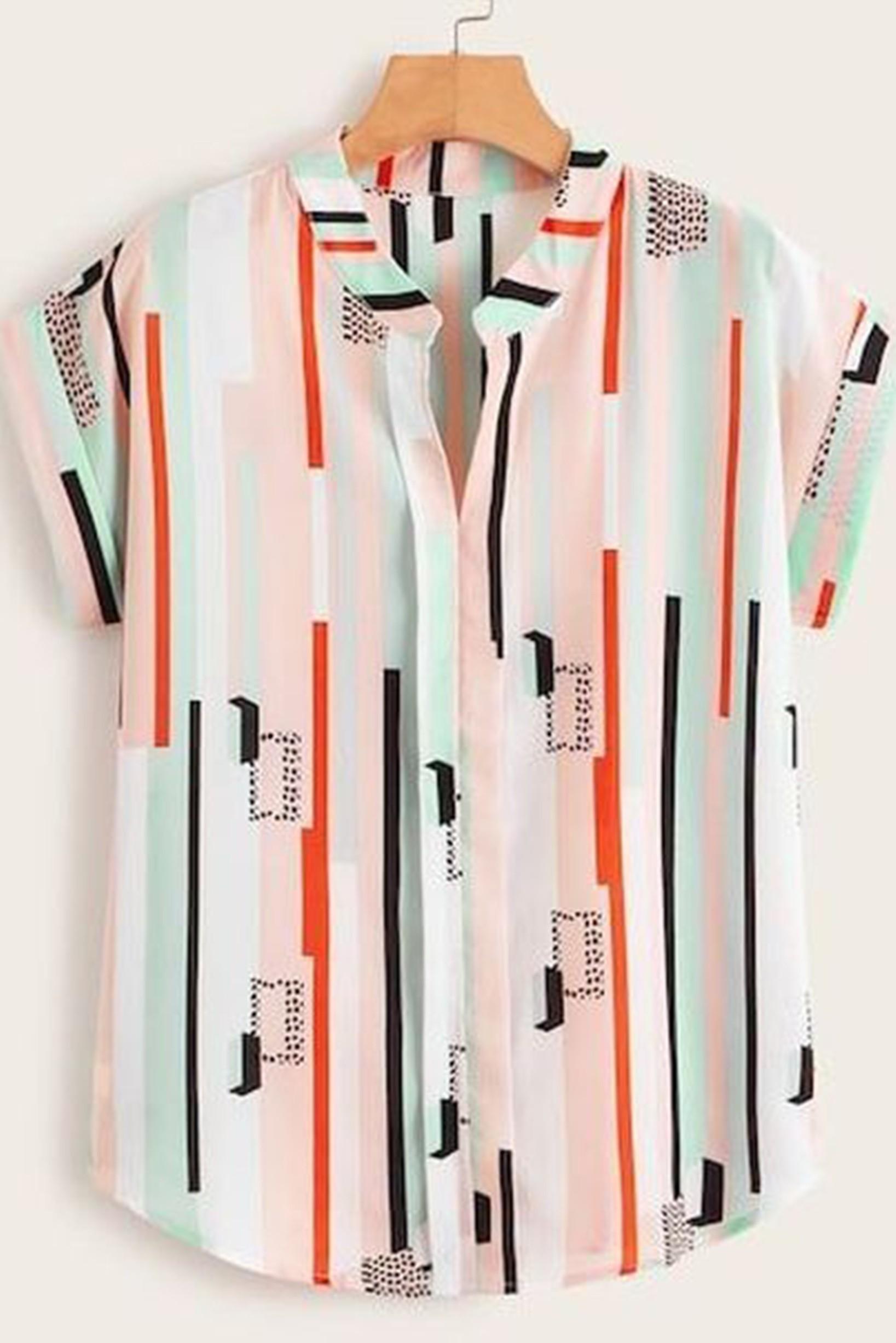 White color stripe shirt