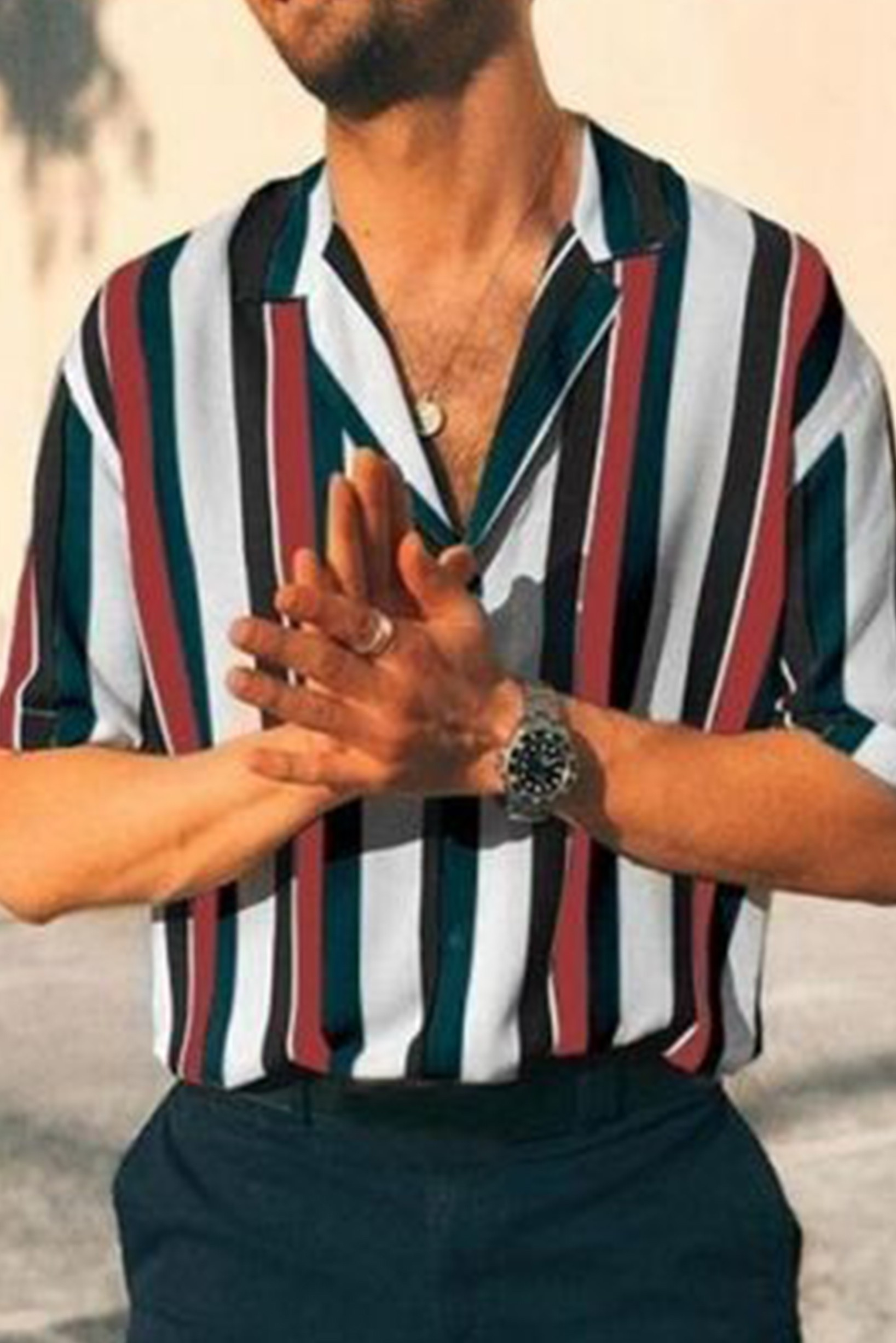 Rock the word striped shirt