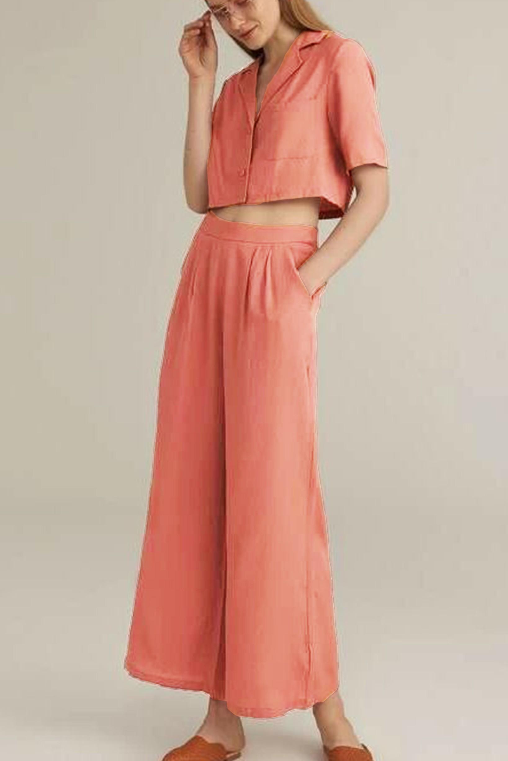 Set of two :- Elegance at doorstep pant & crop shirts