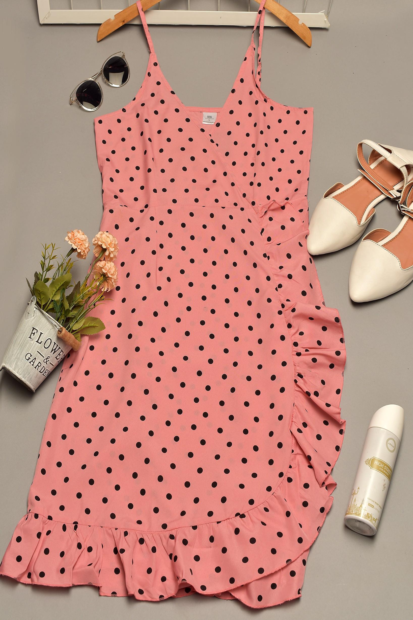 All New Polka Dot Wrap Dress