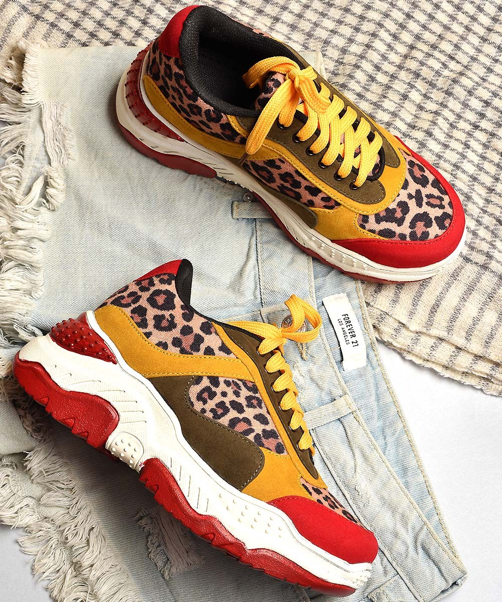 Wild party goer chunky sneakers