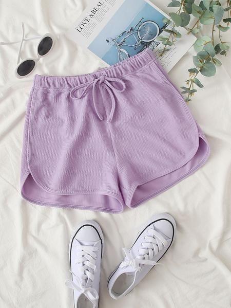 Lavender Regular Summer Shorts