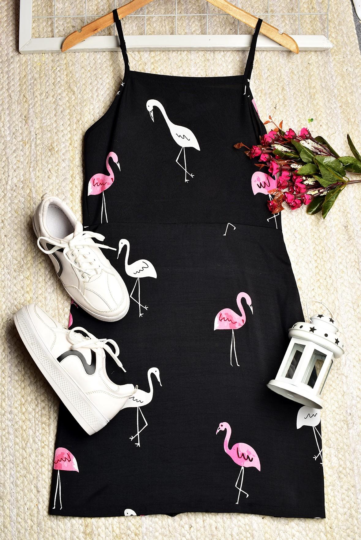Flamingo Shift Dress