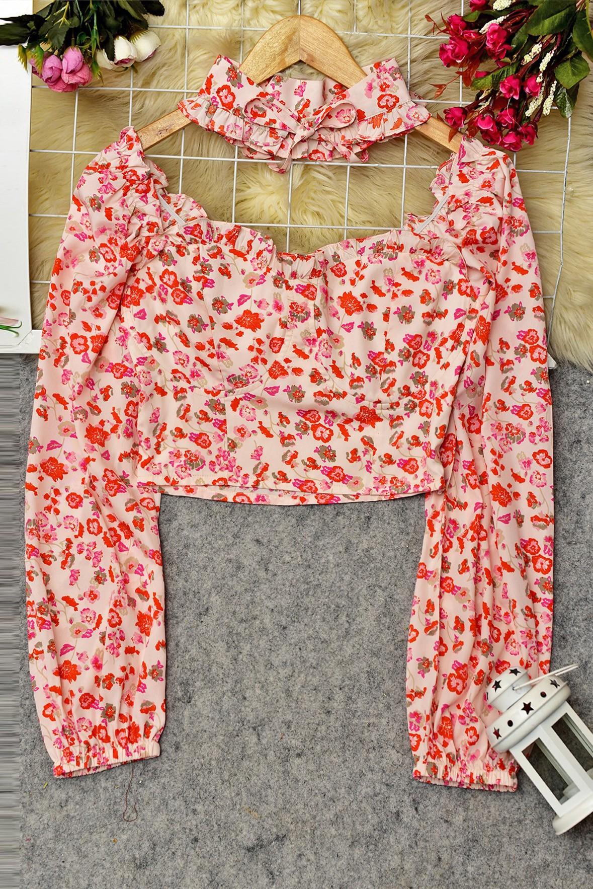Flower print summer Top